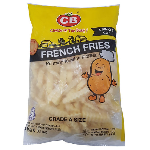 CB French Fries Crinkle Cut (1kg)