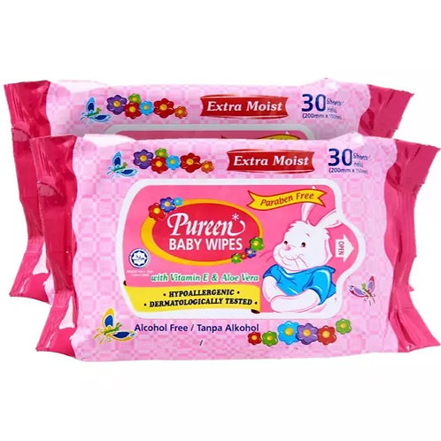 PUREEN Baby Wipes Pink