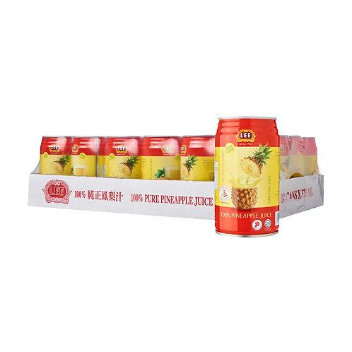 LEE 100% Pineapple Juice (300ml x 24)