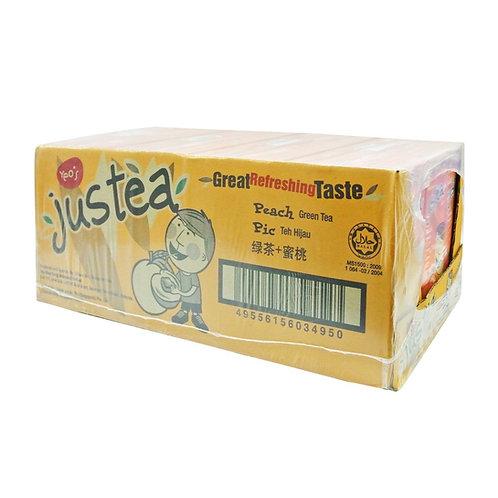 JUSTEA Green Tea with Peach (250ml x 24)