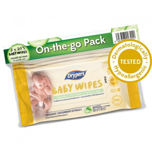 DRYPERS Baby Wipes Hand & Mouth