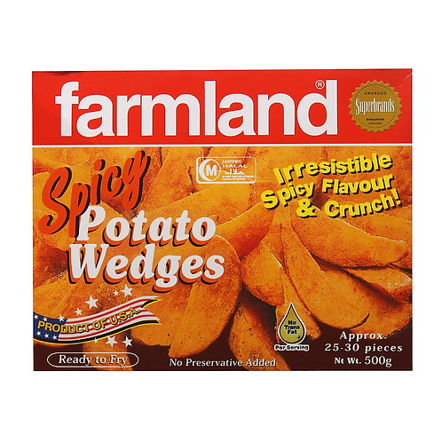 FARMLAND Spicy Potato Wedges (500g)