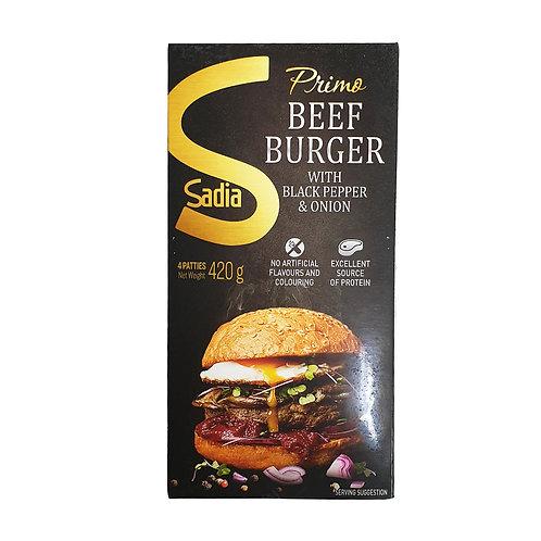 SADIA Primo Beef Burger B/pepper Onion (420g)