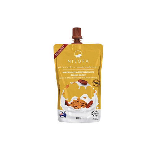 NILOFA Dates & Raisin with Almond Flavoured Milk (200ml)