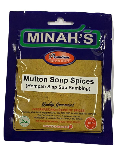 Minah's Mutton Soup Spices 50g