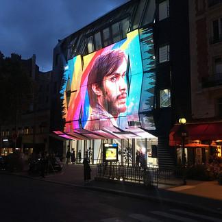 Média façade Alésia Paris