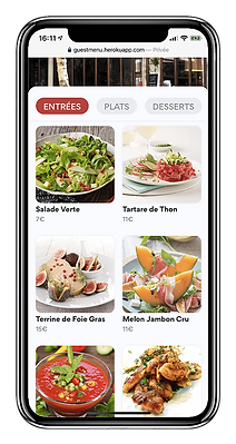 application menu digital restaurant avec qr code