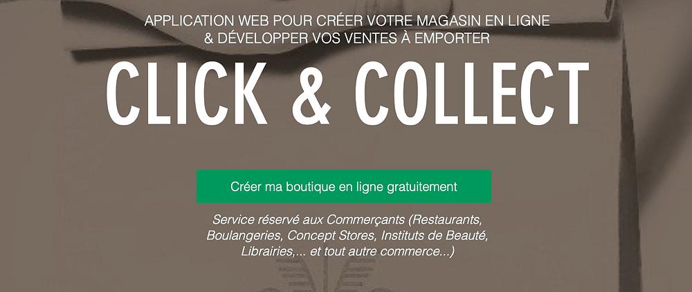 boutique en ligne click collect