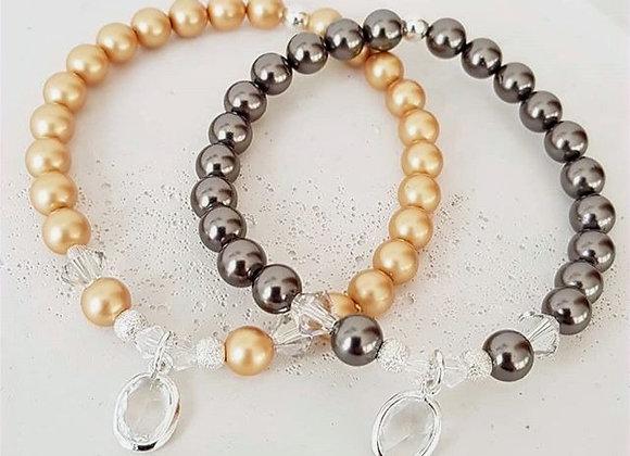 Perlenarmband & Crystalanhänger