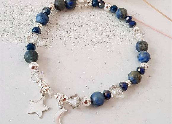 Armband *Mond und Sterne*
