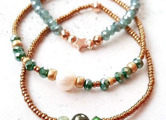 Armband *Bronze & Perlen*