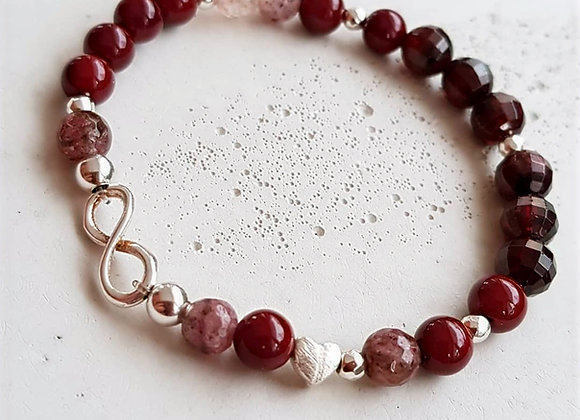 Armband *Infinity & Heart*