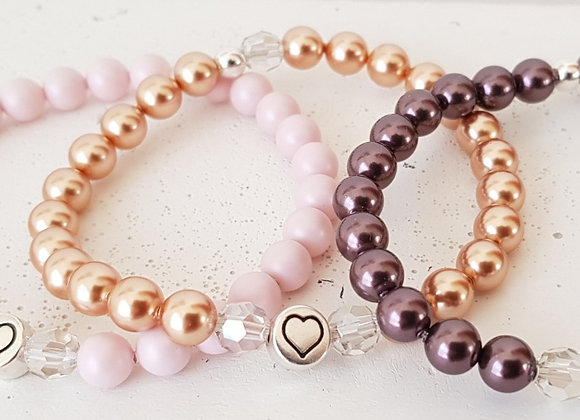 Armband Swarovski Crystal Pearls