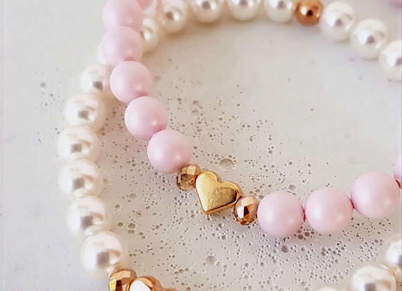 Armband Swarovski-Perlen Roségold