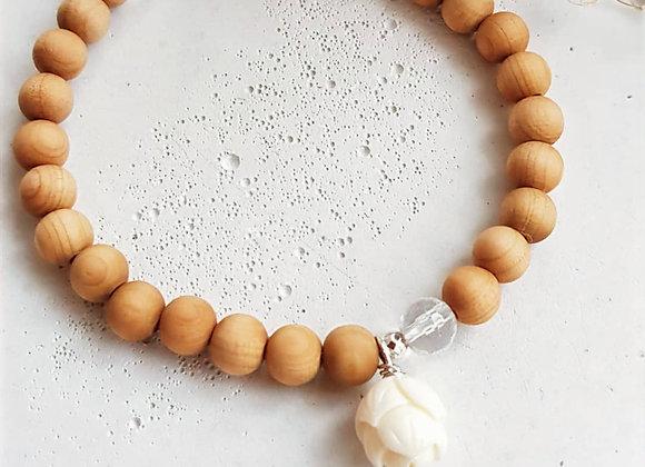 Armband Lotus & Sandelholz