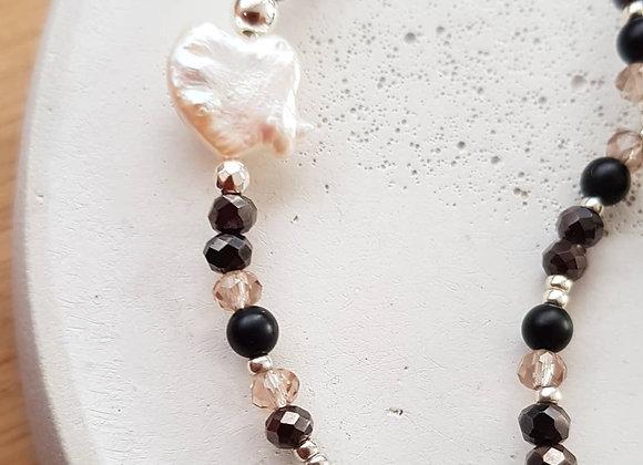 Halskette *Herz* Black & White