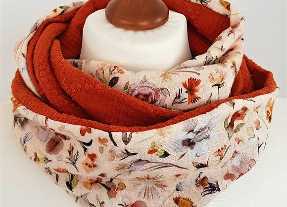 Loop-Schal *Flower Power*