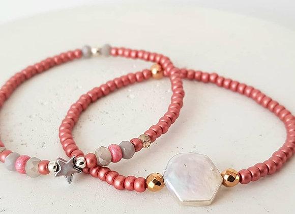 Armband *Stern & Perlenhexagon*