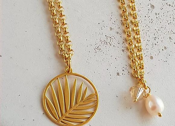 Halskette *Palmen & Perlen* Gold