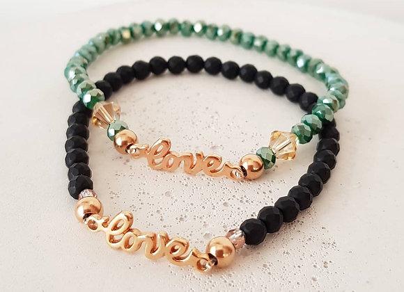 Armband *Love* Black and Green