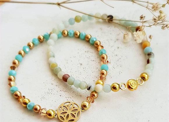 Armband *Golden Mandala*