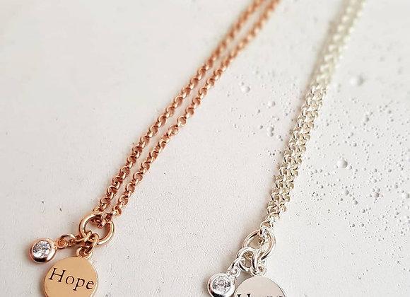 Silberhalskette *Hope*