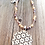 Thumbnail: Halskette Glasperlen & Blume Anhänger