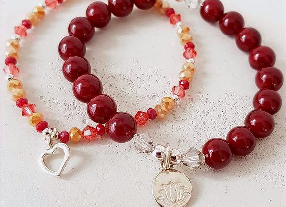 Armband *Heart & Lotus*