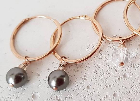 Creolen Roségold *Pearls*