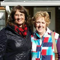 Past committee chairs, Linda Stricker and Janet Hannam