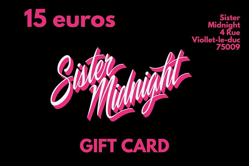 Carte Cadeau 15€ / Gift Card 15€