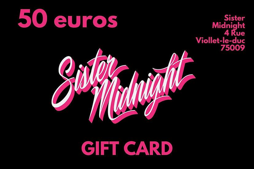 Carte Cadeau 50€ / Gift Card 50€