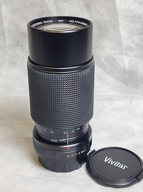 Vivitar 80-200 f4 macro for Pentax PK