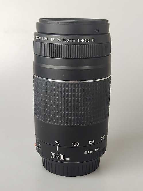 Canon 75-300mm f4-5.6 III EOS AF lens