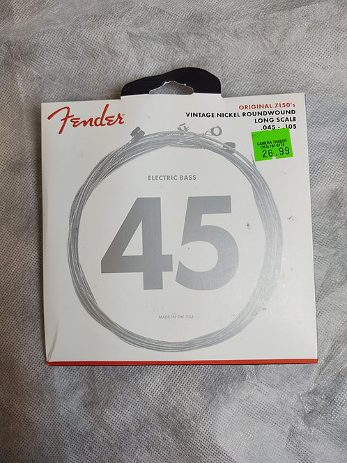 Fender electric bass strings number 45 long scale
