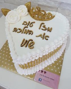 עוגה עם כתר למלכה אמיתית