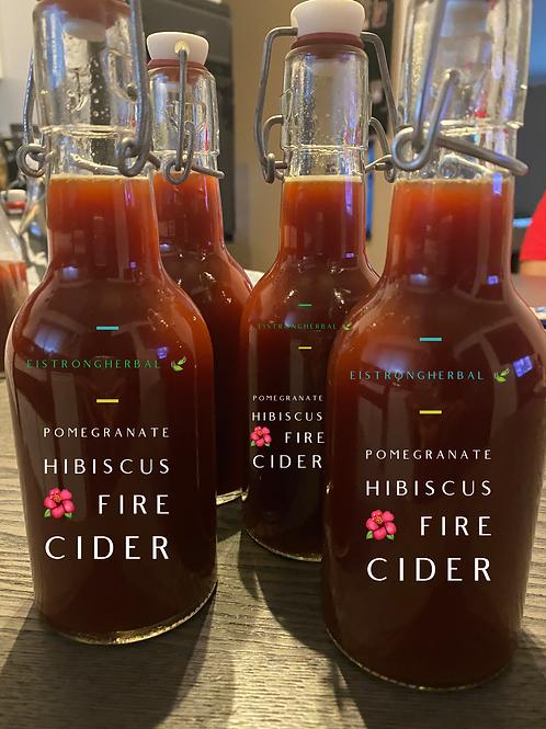Pomegranate Hibiscus Fire Cider