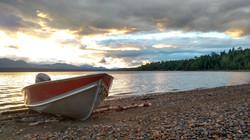 Boat on Takla Lake