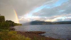 Rainbow over Takla Lake