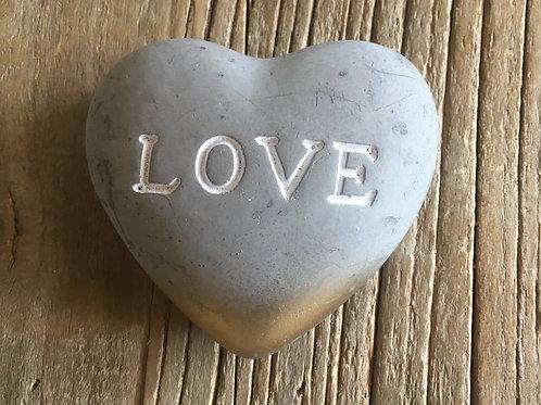 Love heart stone
