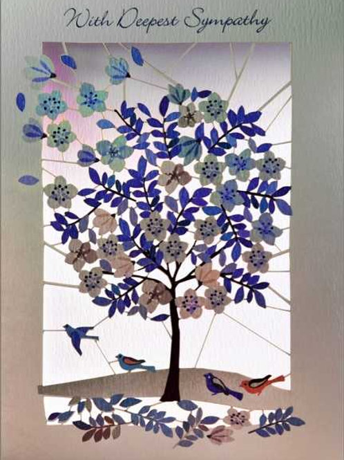Deepest Sympathy Tree Card