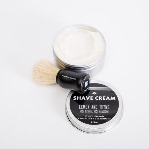 Shave Cream – 250ml – Lemon & Thyme