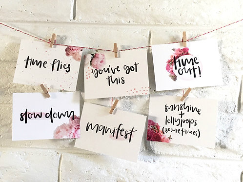 Motherhood bundle - advice cards