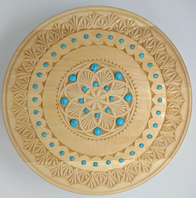 Carved mandala