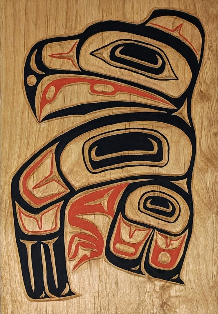Northwest-style wood carving