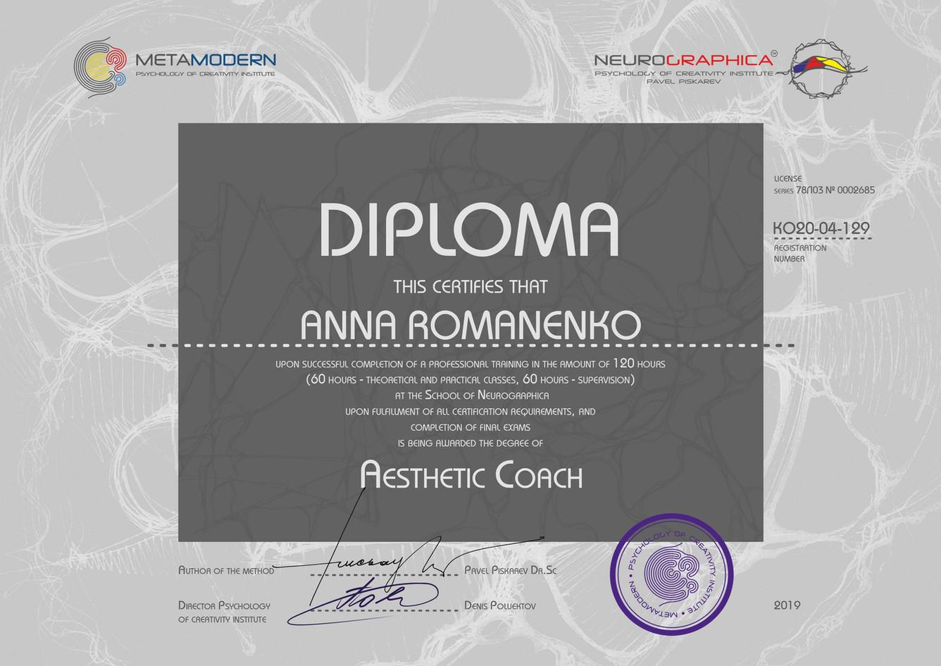 ANNA ROMANENKO ЭЛЕКТРОН ДИПЛОМЫ 2019(20)