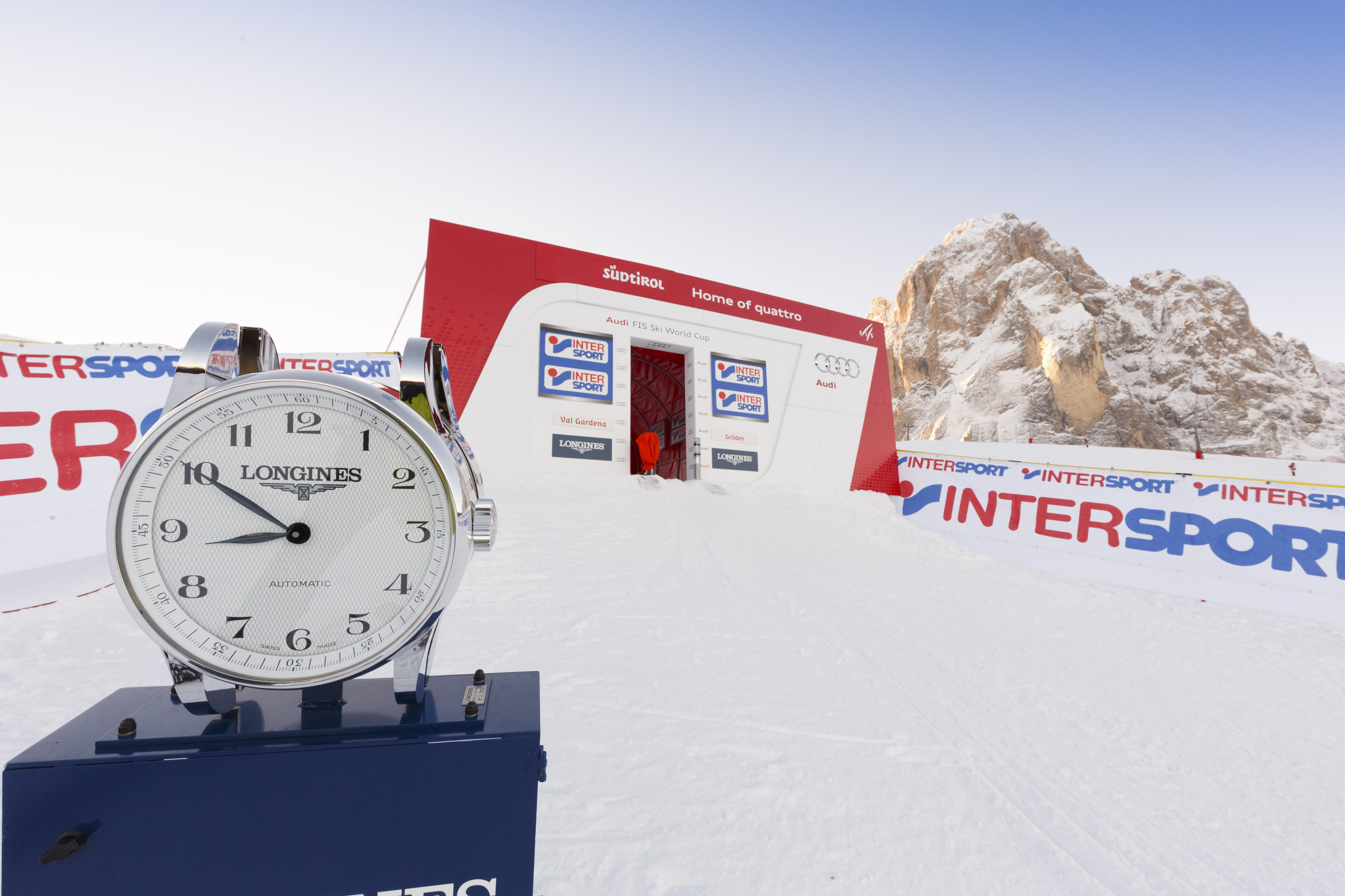 Start Area during World Ski Men Ita SuperG Race 01