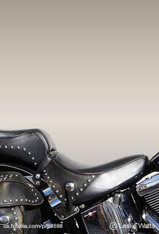 Leather Studded Motorcycle Seat 2