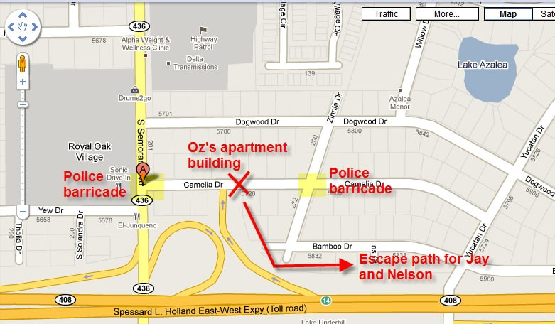 SWAT raid Oz's apartment building