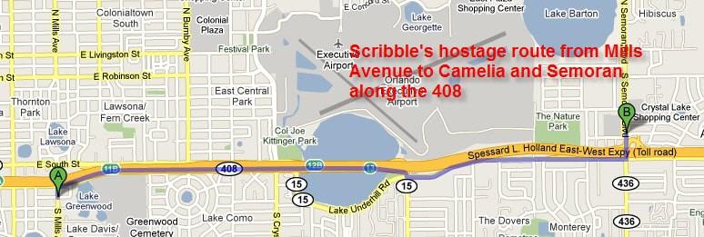 Scribble's escape route to Oz's